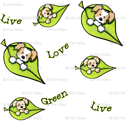 Live Green Love Puppies