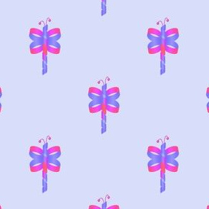 Ribbon Butterfly Blue Pink