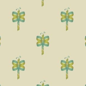 Ribbon Butterfly Blue Green