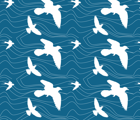 BirdSea fabric by alicia_vance on Spoonflower - custom fabric