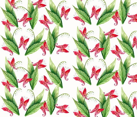 printemps bonheur1 fabric by nadja_petremand on Spoonflower - custom fabric