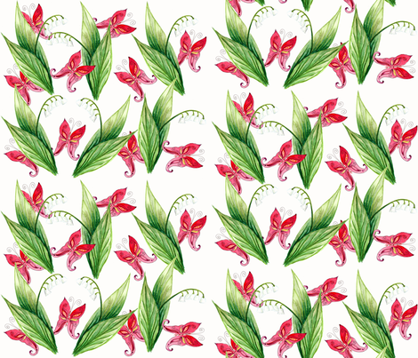 printemps bonheur green day fabric by nadja_petremand on Spoonflower - custom fabric