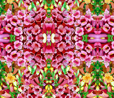 Foxglove Festival Squared fabric by helenklebesadel on Spoonflower - custom fabric