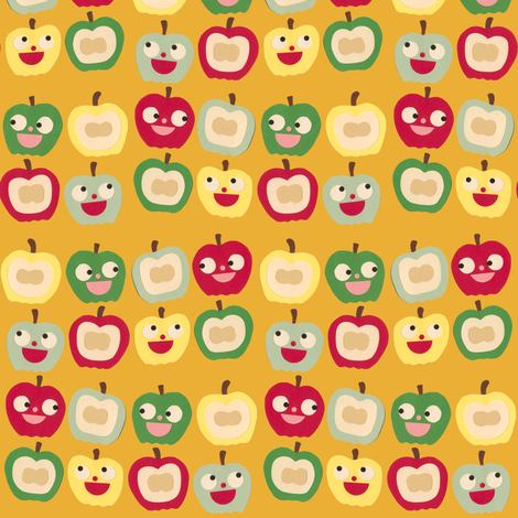 apples orange fabric by heidikenney on Spoonflower - custom fabric