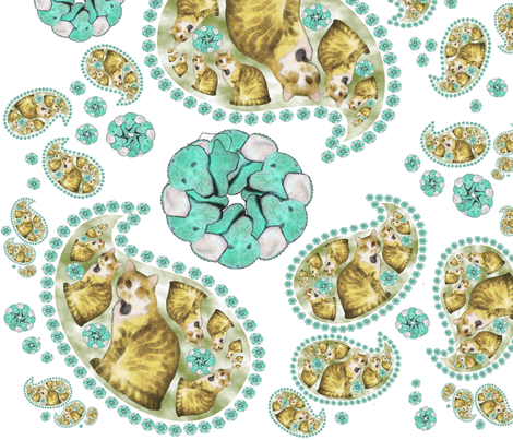 Regretsy Kitty-Elephant Paisley  fabric by greencellist on Spoonflower - custom fabric