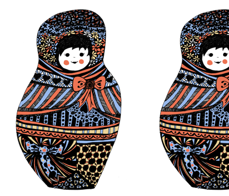 big babushka doll fabric by beecah on Spoonflower - custom fabric