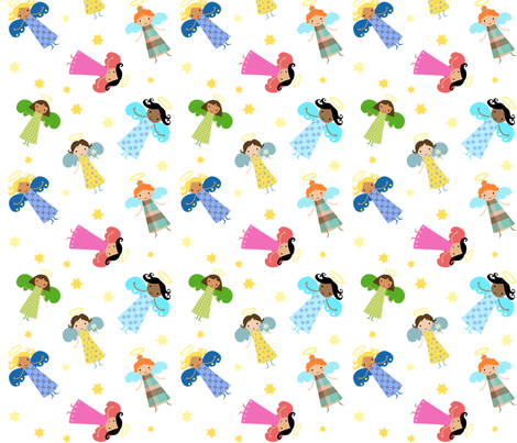 Bright Cheerful Angels fabric by zoel on Spoonflower - custom fabric