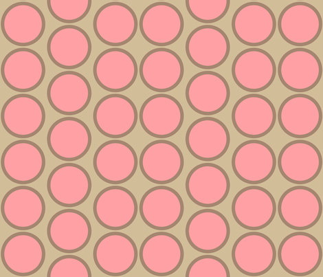 pink_circle_dot fabric by holli_zollinger on Spoonflower - custom fabric