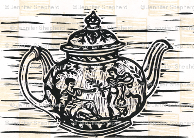 Grecian Teapot in Natural