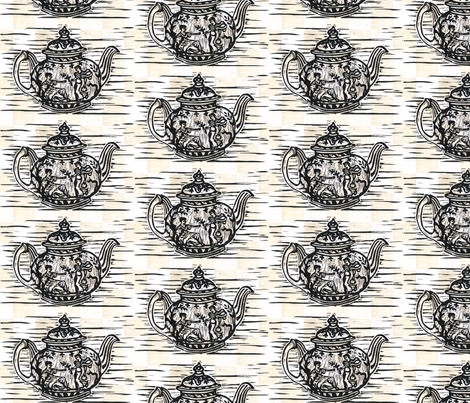 Grecian Teapot in Natural fabric by jenithea on Spoonflower - custom fabric