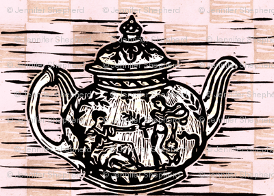 Grecian Teapot in Pink