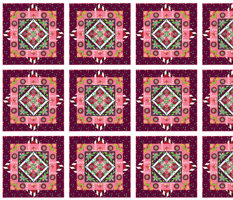 Quiltblocks-wine fabric by leslipepper on Spoonflower - custom fabric