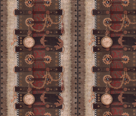 Olio de Steampunk fabric by leslipepper on Spoonflower - custom fabric