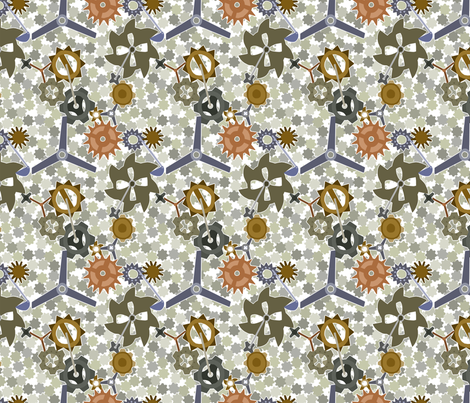 Clock Gears fabric by shout4joy2thelord on Spoonflower - custom fabric