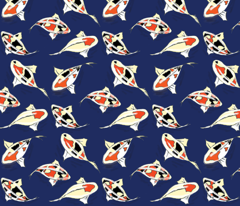 Koi Pond fabric by dorolimited on Spoonflower - custom fabric
