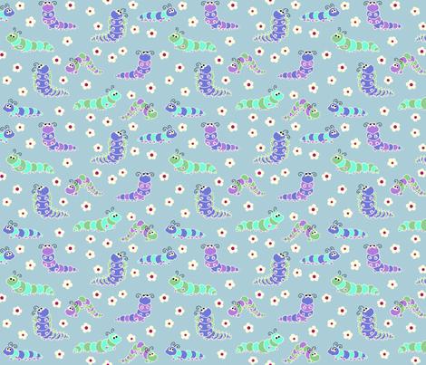 chenilles Blue fabric by thelazygiraffe on Spoonflower - custom fabric