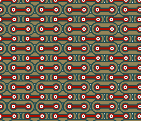 Bicycle Chain - Volcano fabric by thirdhalfstudios on Spoonflower - custom fabric