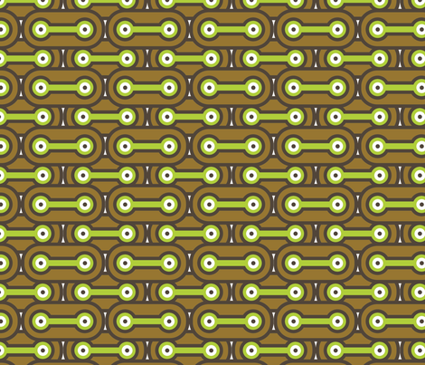 Bicycle Chain - Earth fabric by thirdhalfstudios on Spoonflower - custom fabric