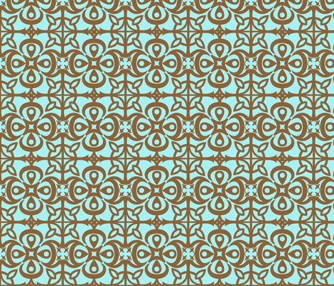 """Cathedral Blossoms"" in brown fabric by mytinystar on Spoonflower - custom fabric"
