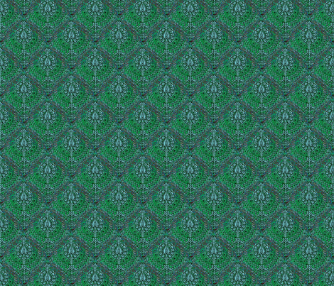 Tapestry, Blue/green fabric by nalo_hopkinson on Spoonflower - custom fabric