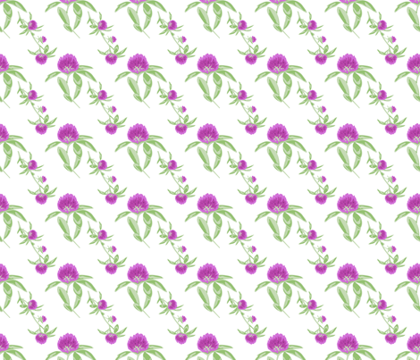 alfalfa flowers white fabric by mytinystar on Spoonflower - custom fabric