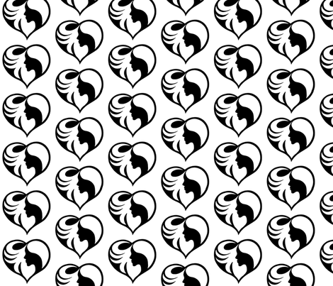 Lady Heart fabric by samanthaheather on Spoonflower - custom fabric