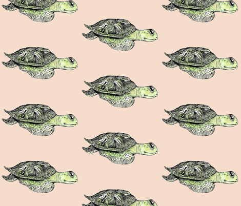 The Sea Turtle fabric by taraput on Spoonflower - custom fabric