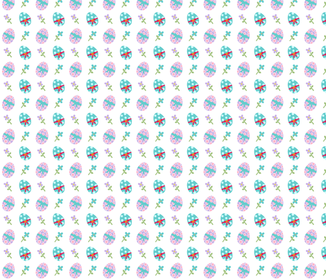 Sugar Sweet Easter Eggs fabric by zoel on Spoonflower - custom fabric