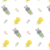 Easter Chicks and Bunny Rabbits