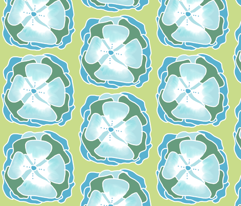snowflower fabric by katrina_whitsett on Spoonflower - custom fabric