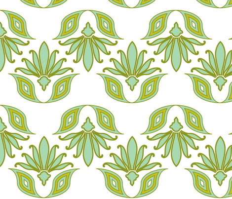 century_leaves_seafoam fabric by holli_zollinger on Spoonflower - custom fabric