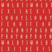 red script