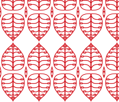 red_leaf fabric by holli_zollinger on Spoonflower - custom fabric
