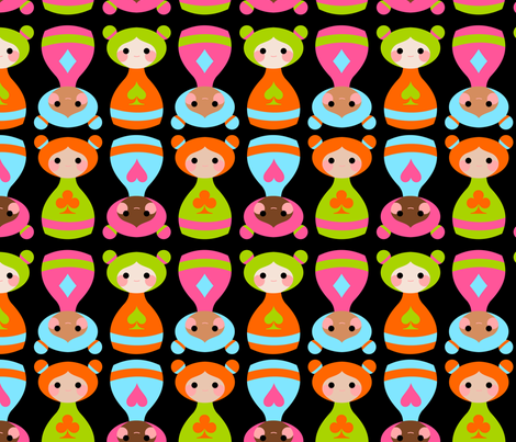 bottle girls fabric by thirdhalfstudios on Spoonflower - custom fabric
