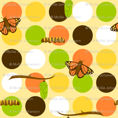 Butterfly Fabric Small Dots