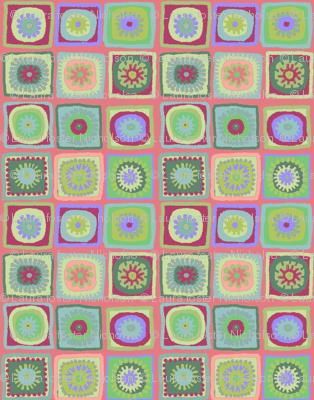pink granny squares