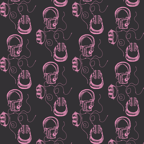 Headphones fabric by dorolimited on Spoonflower - custom fabric
