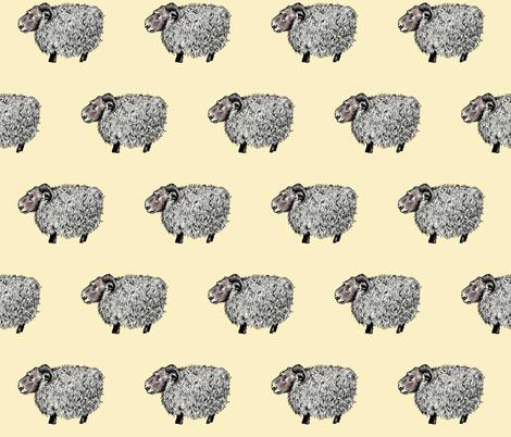 Counting Sheep fabric by taraput on Spoonflower - custom fabric