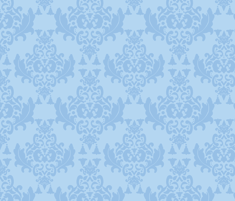Delicious Damask in Light Blue fabric by mayabella on Spoonflower - custom fabric