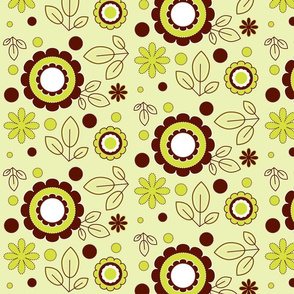 Lime & Chocolate Pop Floral