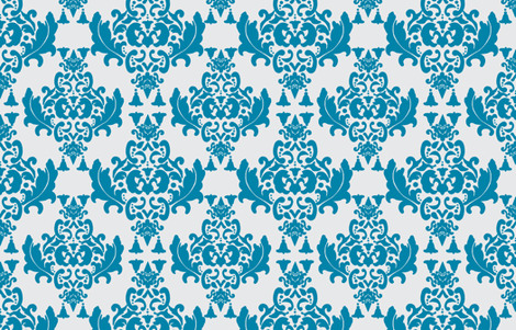 Delicious Damask in Blues fabric by mayabella on Spoonflower - custom fabric