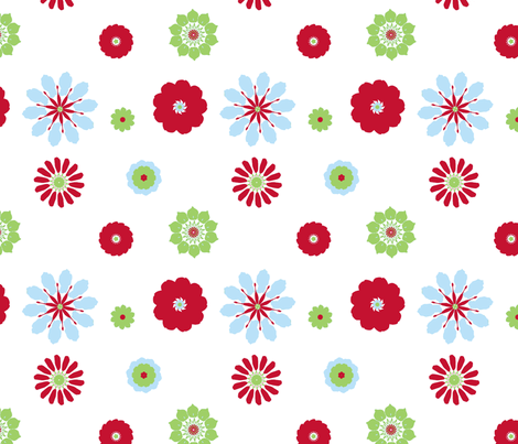 Zee Flowers in Retro fabric by mayabella on Spoonflower - custom fabric