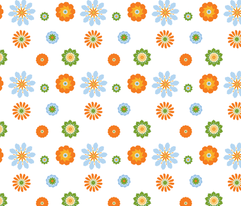 Zee Flower-Citrus fabric by mayabella on Spoonflower - custom fabric
