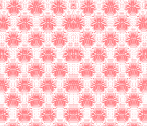 Lotus Kaleidoscope-- Pink 1 fabric by winter on Spoonflower - custom fabric