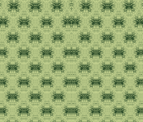Lotus Kaleidoscope-- Green