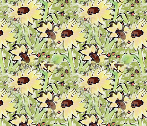 Sunflower_Ladies fabric by ddmote on Spoonflower - custom fabric