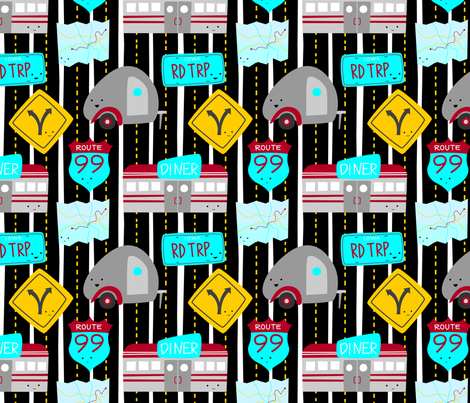 RoadTrippersFabric2 fabric by wildolive on Spoonflower - custom fabric