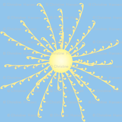 Sunshine Burst on Light Blue