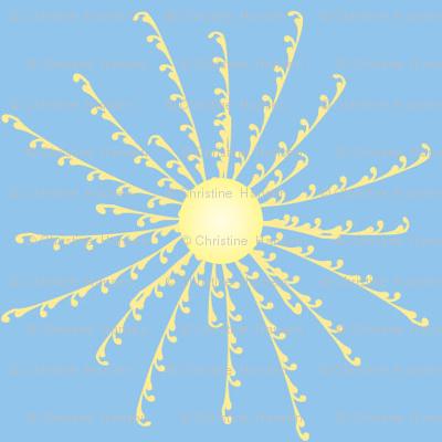 Sunshine Burst on Light Blue