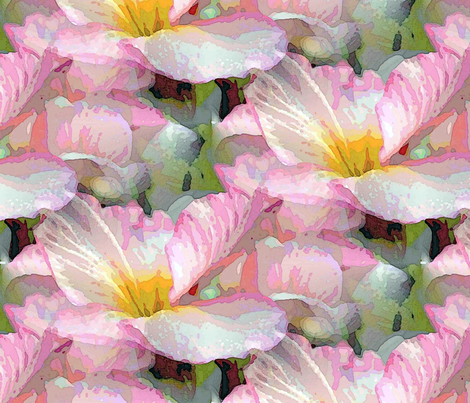 Powder pink primrose fabric by vib on Spoonflower - custom fabric